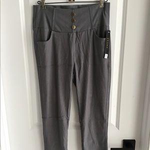 Jvini Ladies Capri Jeggings - Gray - Size 1XL